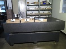 """Mitutoyo 50"""" x 80"""" x 12"""" Granite Surface Plate (SOLD AS-IS - NO WARRANTY)"""