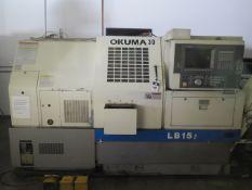 Okuma LB15 II CNC Lathe s/n 0711.2451 w/ Okuma OSP7000L Controls, 12-Station Turret, SOLD AS IS