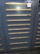 Equipto 10-Drawer Tooling Cabinet w/Taper Shank Drills, Deduced Shank Drills and Drills (Large
