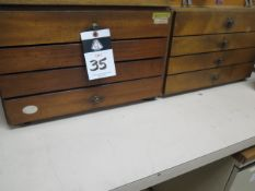 """Meyer Pin Gage Cabinets (2) .061""""-1.000"""" (SOLD AS-IS - NO WARRANTY)"""