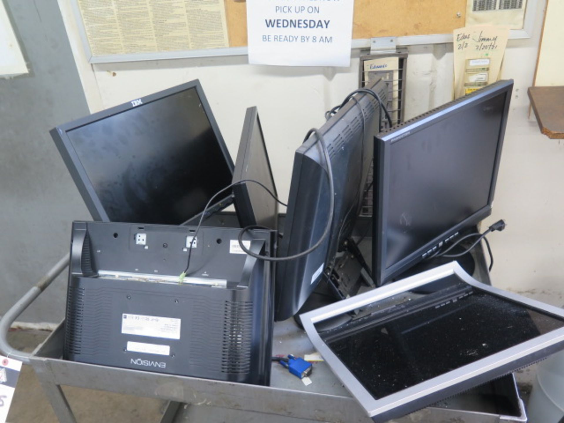 Computer Monitors w/ Cart (SOLD AS-IS - NO WARRANTY) - Image 2 of 3