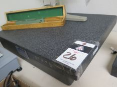 """18"""" x 24"""" x 4"""" 2-Ledge Granite Surface Plate (SOLD AS-IS - NO WARRANTY)"""