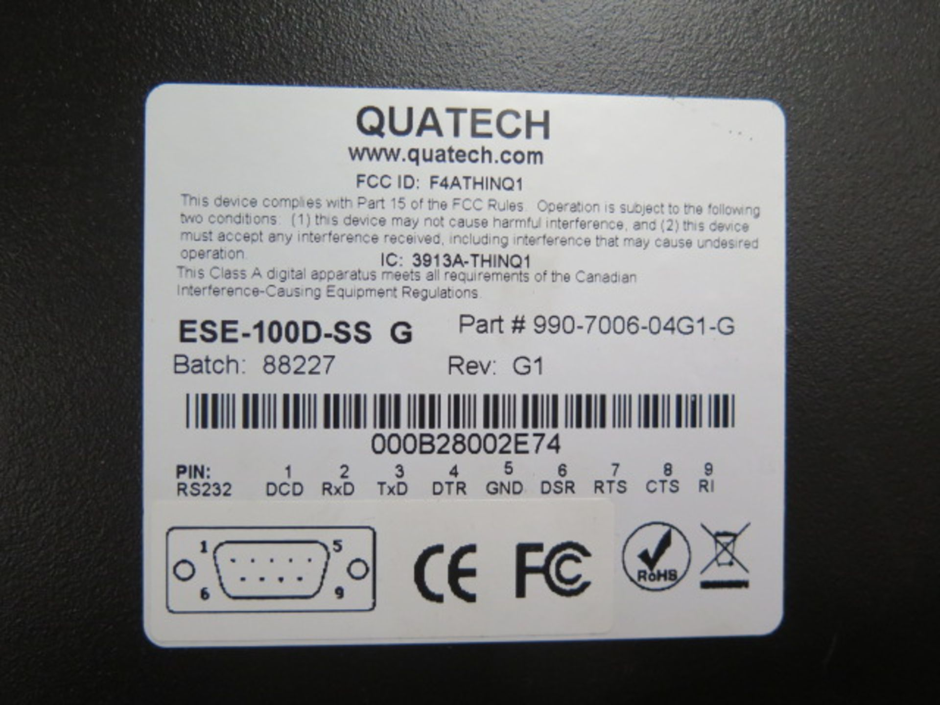 Quatech ESE-100D-SS G Device Servers (3) (SOLD AS-IS - NO WARRANTY) - Image 5 of 5