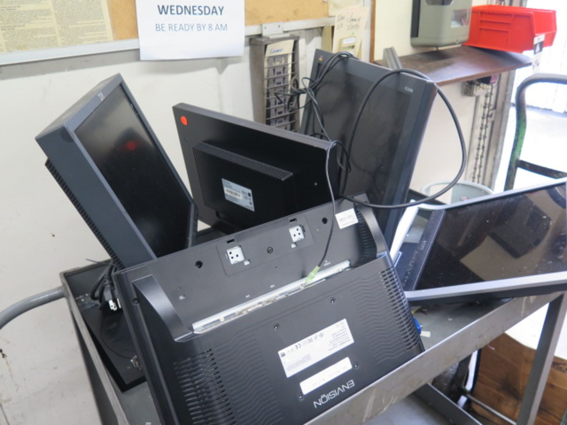 Computer Monitors w/ Cart (SOLD AS-IS - NO WARRANTY) - Image 3 of 3
