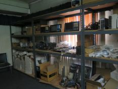 Large Quantity of Machine Parts Including HUSK CNC Control Consoles, Mitsubishi Drive Controllers,
