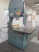 """Oliver mdl. 116D 35"""" Vertical Band Saw s/n 54502 w/ 36"""" x 36"""" Table (SOLD AS-IS - NO WARRANTY)"""
