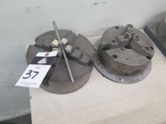 """8"""" 3-Jaw Chuck and 9"""" 4-Jaw Chuck (SOLD AS-IS - NO WARRANTY)"""
