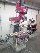 Lagun Vertical Mill w/ Newall C80 Programmable DRO, 60-4200 Dial RPM, Power Drawbar, SOLD AS IS