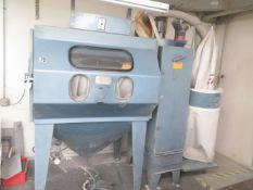 Abrasive-Blast Dry Blast Cabinet w/ Dust Collector (SOLD AS-IS - NO WARRANTY)