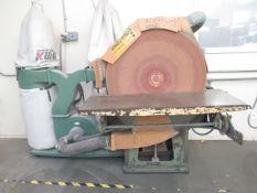 """36"""" Pedestal Disc Sander w/ 21"""" x 48"""" Table, and Dust Collector (SOLD AS-IS - NO WARRANTY)"""