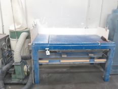 """36"""" x 54"""" Down Draft Table w/ Dust Collector (SOLD AS-IS - NO WARRANTY)"""