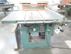 """Delta Tilting Arbor Table Saw w/ 38"""" x 47"""" Table, Fence (SOLD AS-IS - NO WARRANTY)"""