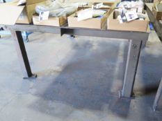 "60"" x 96"" Steel Welding Table (SOLD AS-IS - NO WARRANTY)"