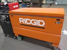 Ridgid 48R-OS Rolling Job Box w/ Stud welding Accessories (SOLD AS-IS - NO WARRANTY)