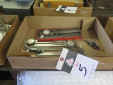 """Digital and Dial 6"""" Calipers (5), Dial Test Indicator and Dial Drop Indicator (SOLD AS-IS - NO WARR"""