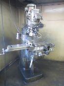Bridgeport Series 1 – 2Hp Vertical Mill s/n 228501 w/ 60-4200 Dial Change RPM, Trava-Dials X & Y,