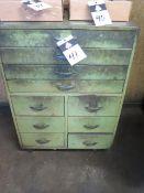 Rolling Wooden Cabinet (SOLD AS-IS - NO WARRANTY)