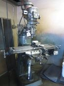 Bridgeport Series 1 2Hp Vertical Mill s/n 242570 w/ 60-4200 Dial Change RPM, Chrome Ways. SOLD AS IS