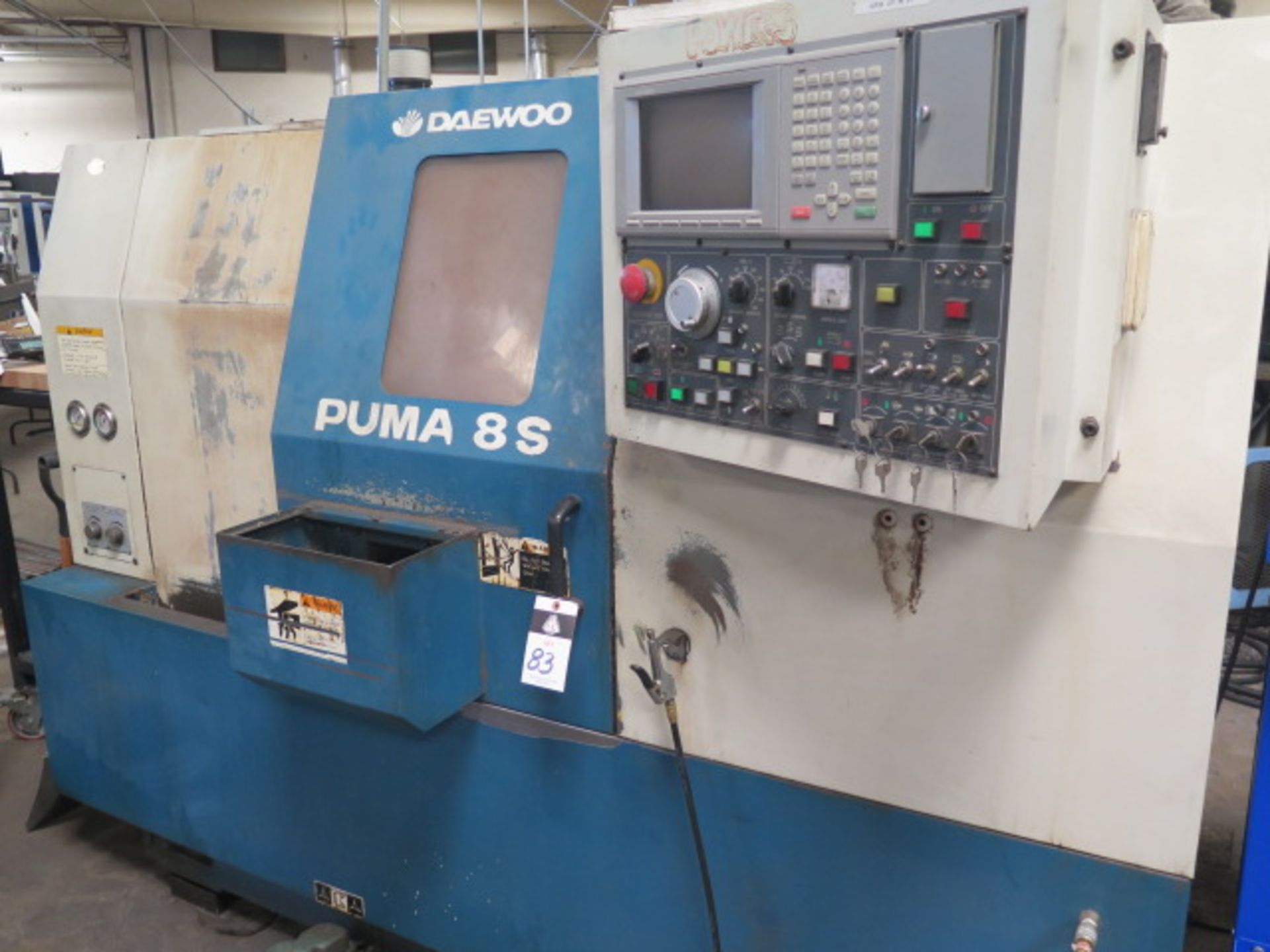 1996 Daewoo PUMA 8S CNC Turning Center s/n PM8S0500 w/ Mits Controls, Tool Presetter, SOLD AS IS - Image 2 of 14