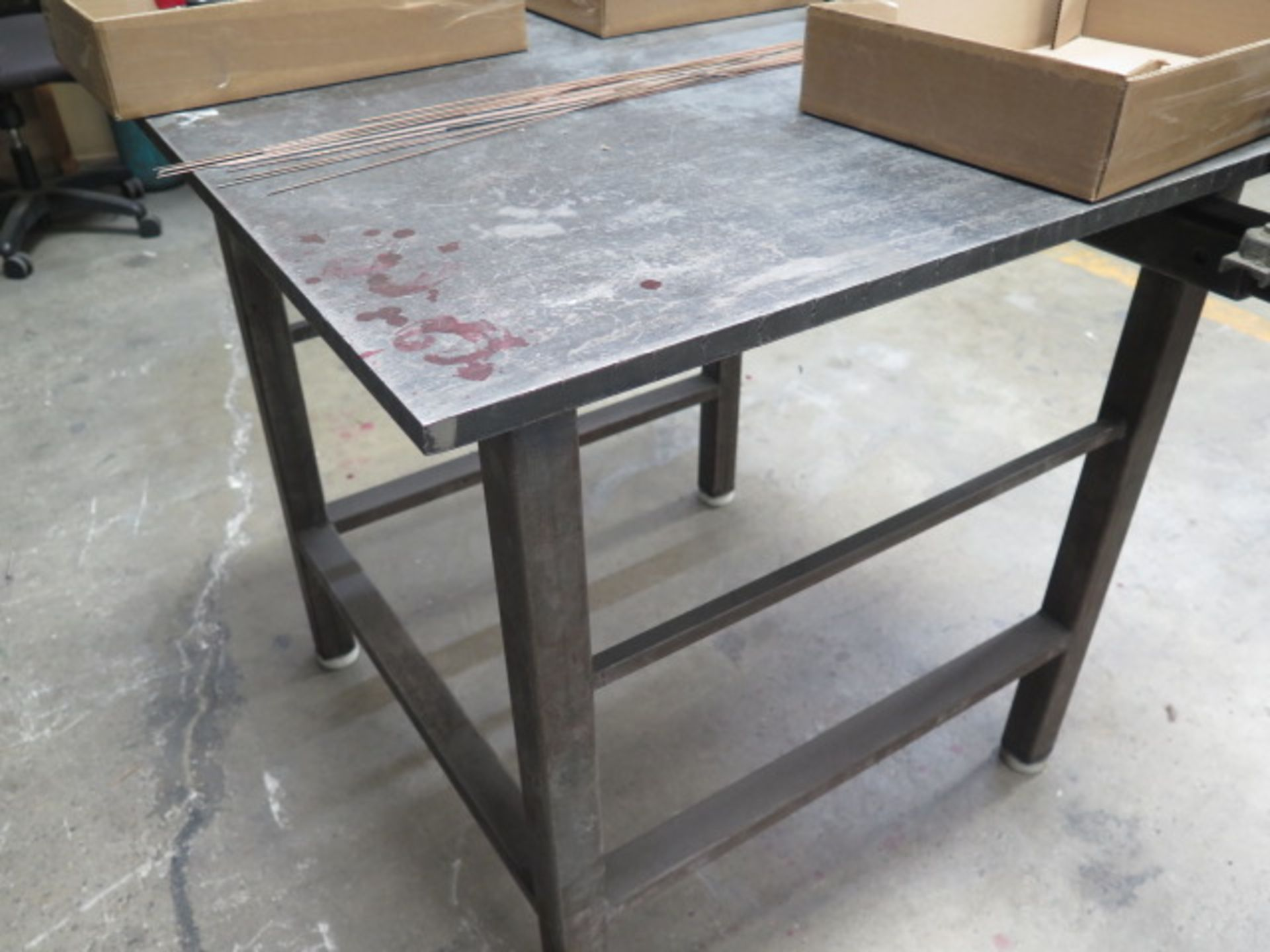Welding Table w/ Bench Vise (SOLD AS-IS - NO WARRANTY) - Image 2 of 4