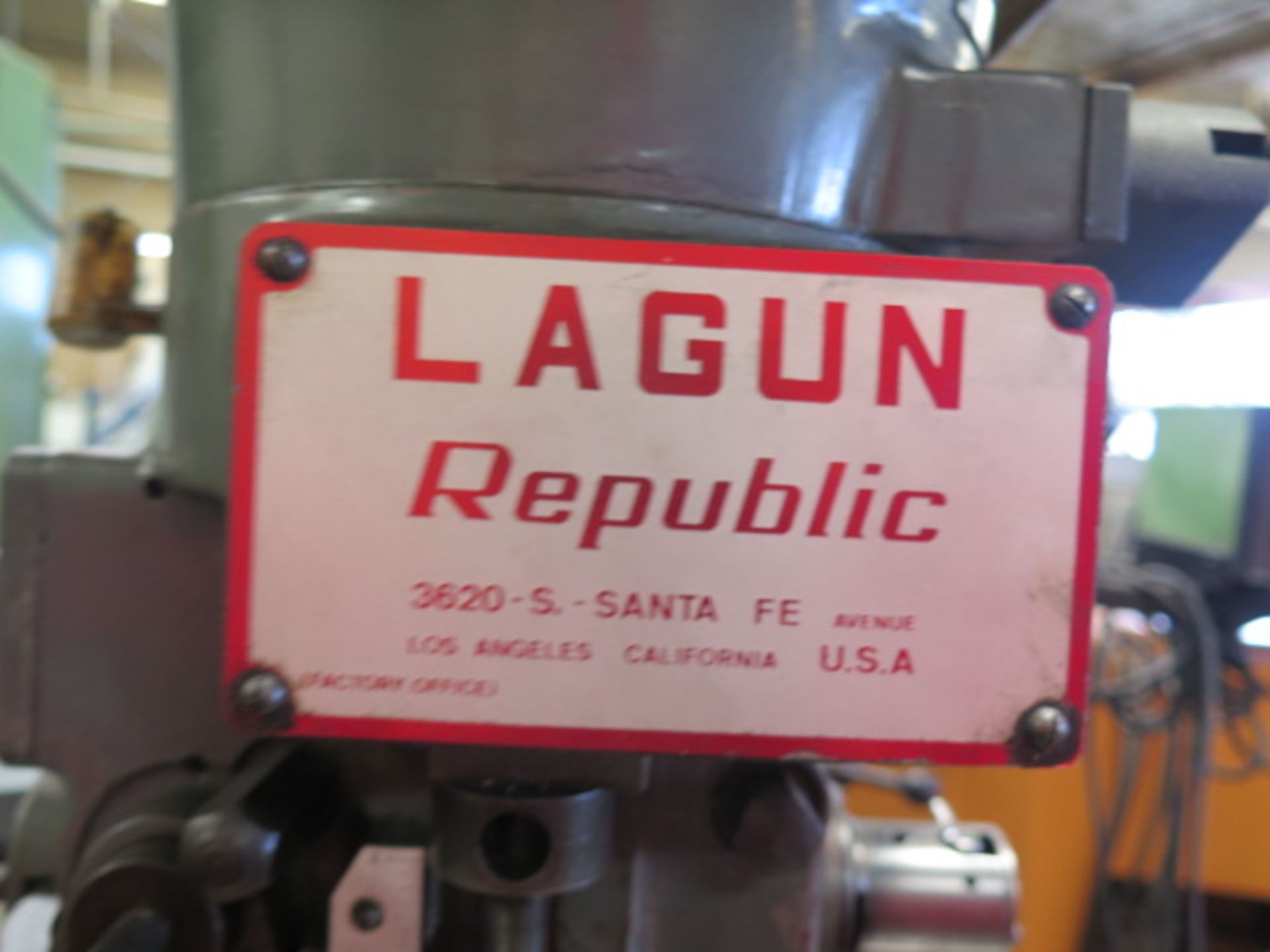 """Lagun FT-1 Vertical Mill w/ Mitutoyo DRO, 55-2940 RPM, 8-Speeds, Power Feed, 9"""" x 42"""" Table (SOLD - Image 3 of 14"""