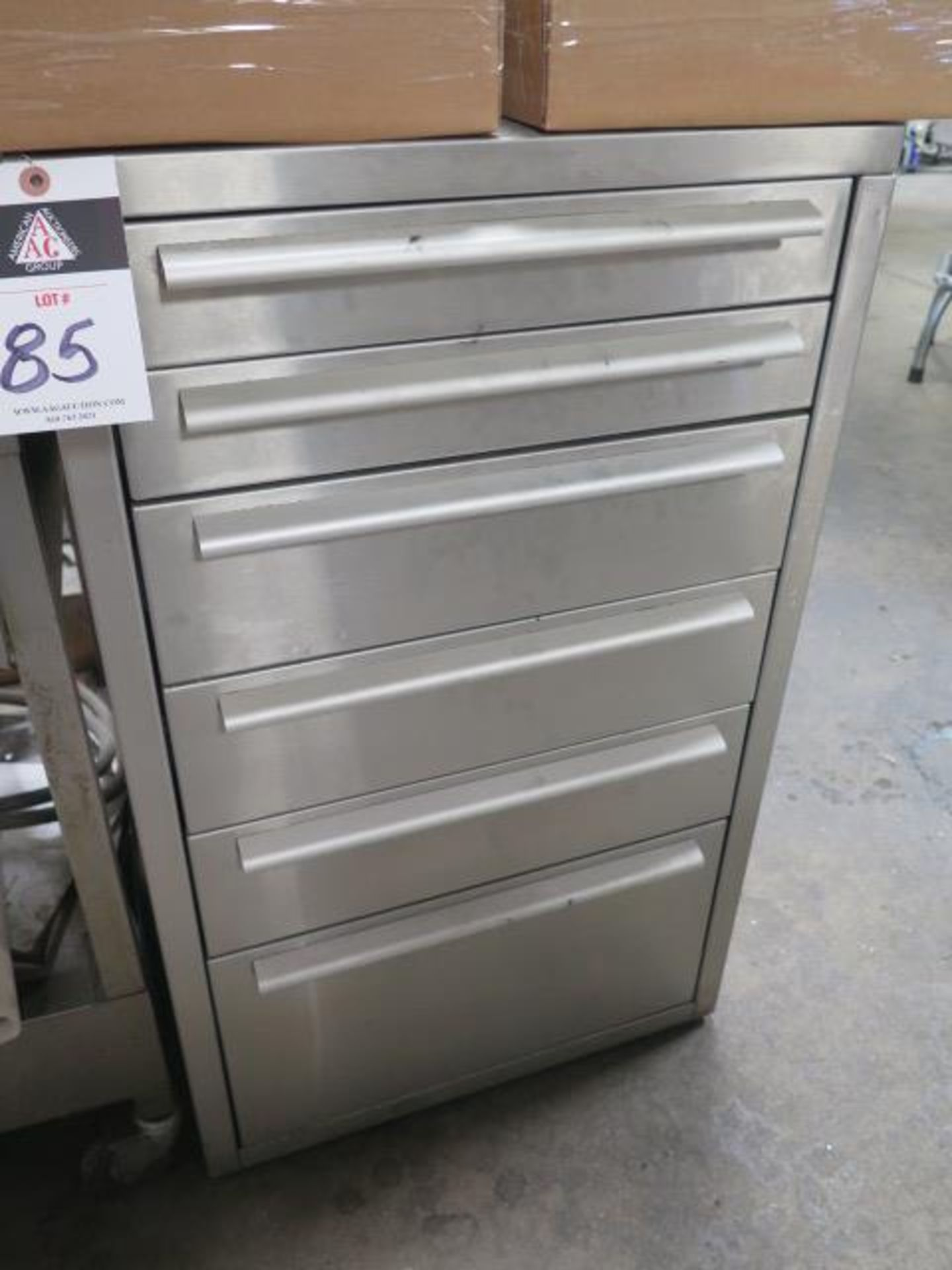 6-Drawer Tooling Cabinet w/ Chuck Jaws (SOLD AS-IS - NO WARRANTY)