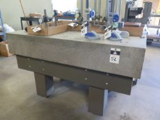 "36"" x 60"" x 10"" Granite Surface Plate w/ Stand (SOLD AS-IS - NO WARRANTY)"