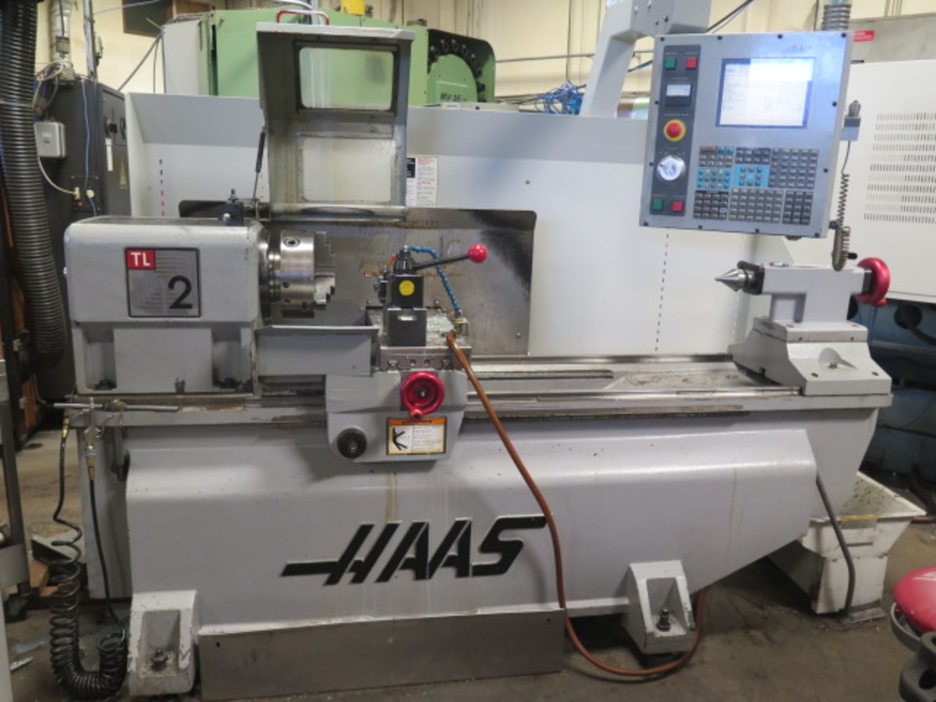 2004 Haas TL2 CNC Tool Room Lathe s/n 68351 w/ Haas Controls, Tailstock, Steady Rest, SOLD AS IS