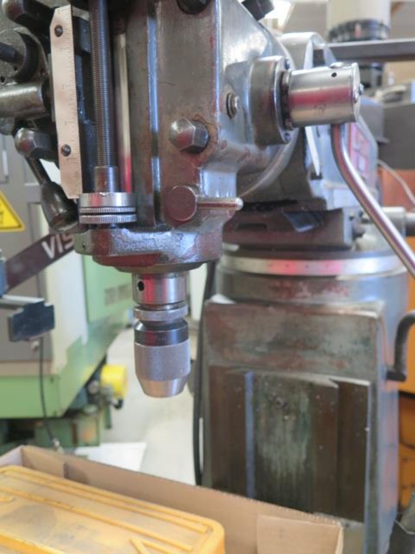 """Lagun FT-1 Vertical Mill w/ Mitutoyo DRO, 55-2940 RPM, 8-Speeds, Power Feed, 9"""" x 42"""" Table (SOLD - Image 9 of 14"""