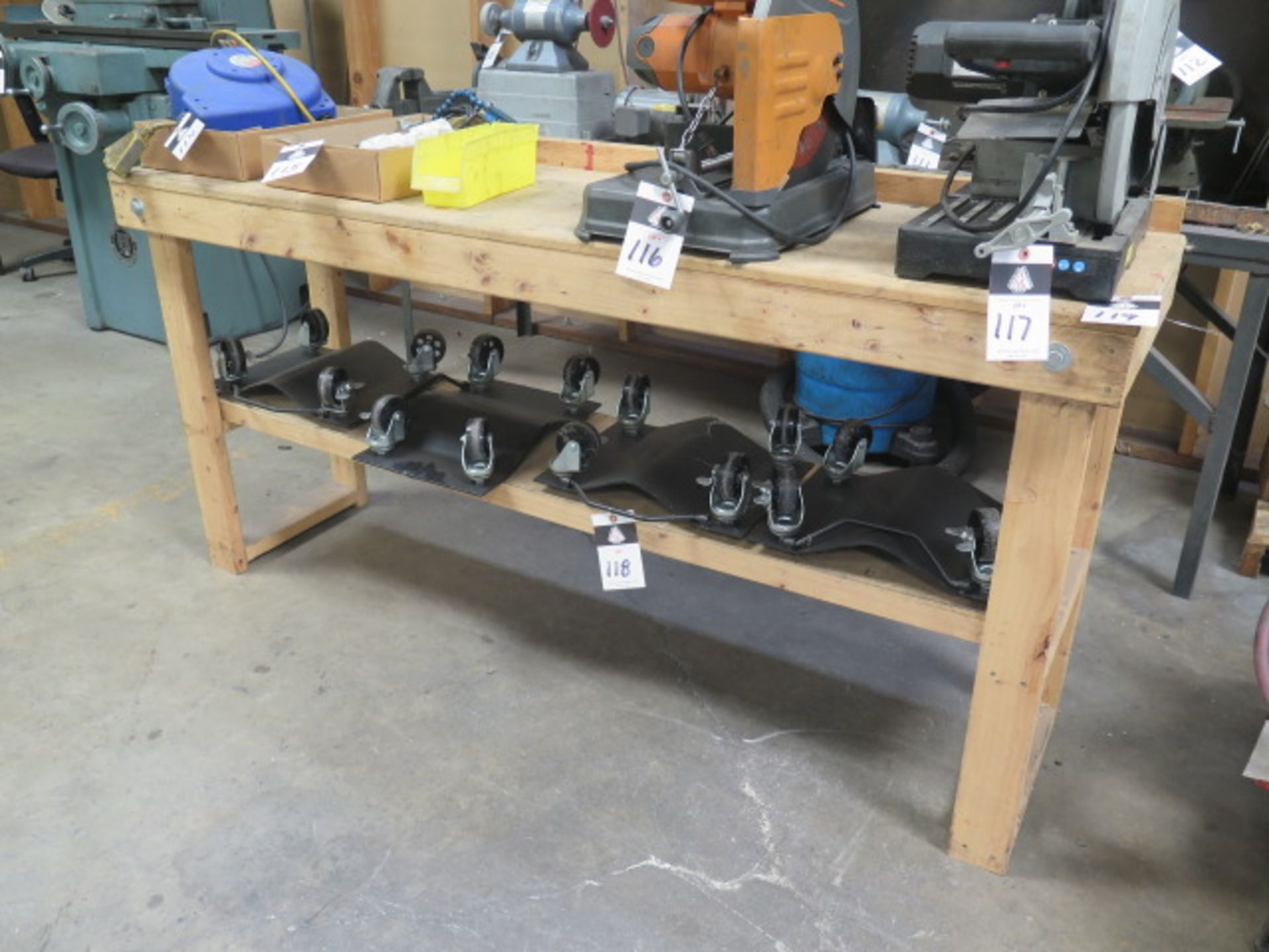 Wooden Work Bench (SOLD AS-IS - NO WARRANTY)