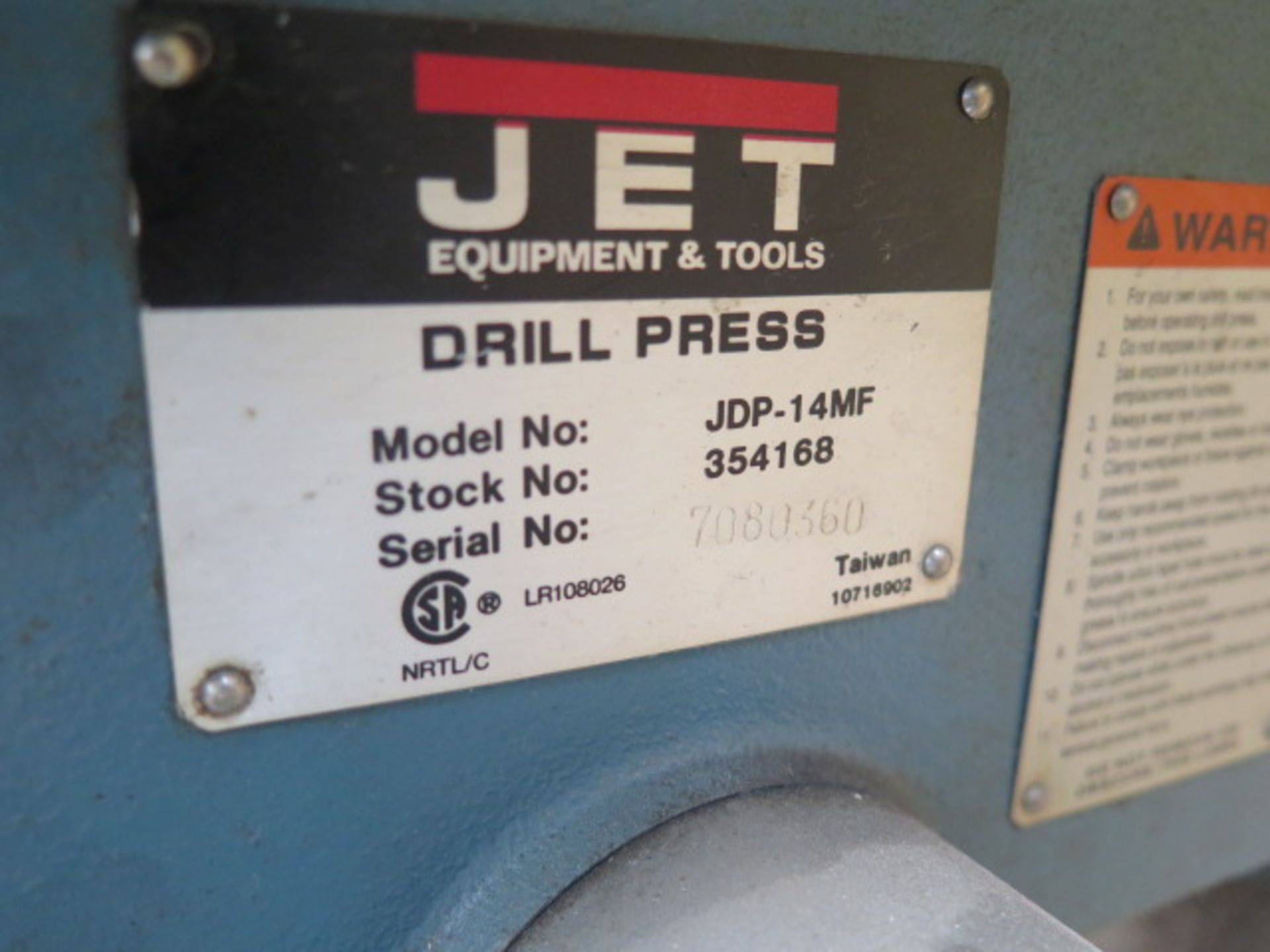 Jet Pedestal Drill Press (SOLD AS-IS - NO WARRANTY) - Image 7 of 7