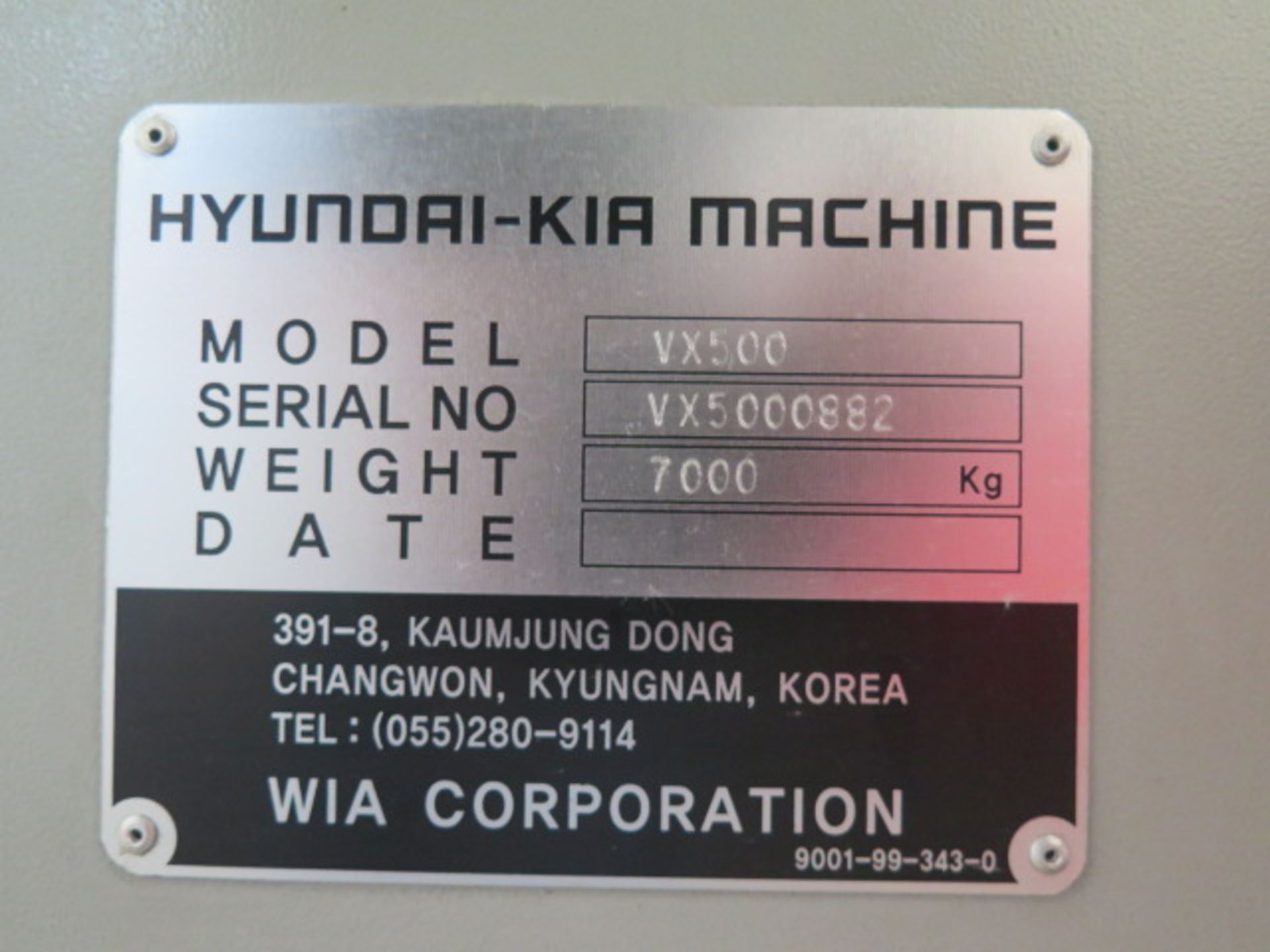 2004 Hyundai WIA VX500 4-Axis CNC VMC s/n VX5000882 w/ Hyundai WIA Fanuc i- Series, SOLD AS IS - Image 23 of 23