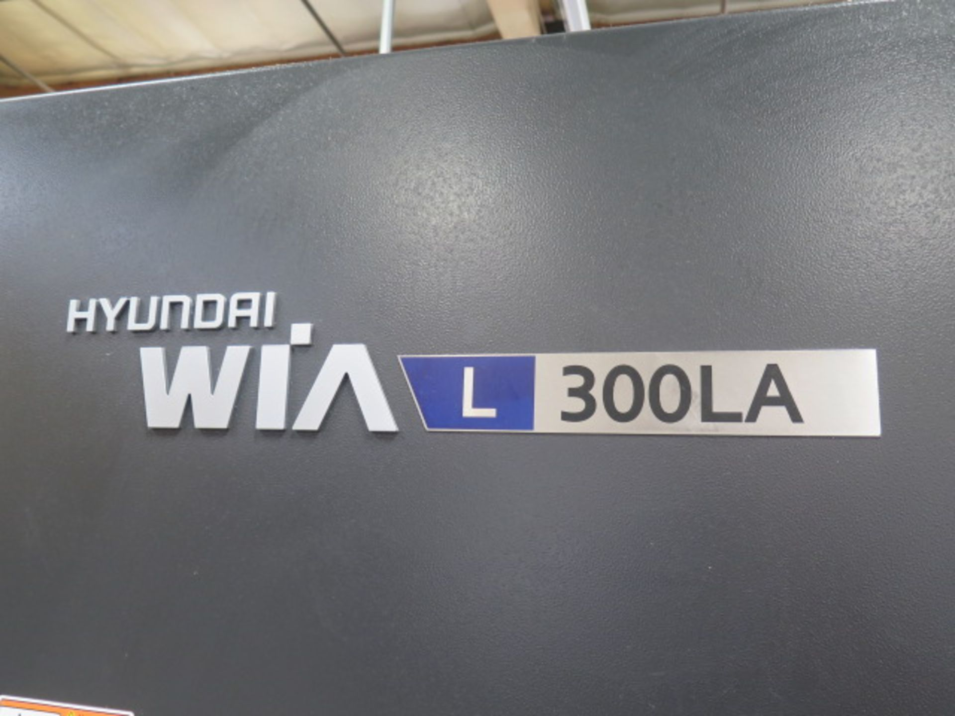2017 Hyundai WIA L300LA CNC Turning Center s/n G3726-0108 w/ Fanuc i-Series Controls, SOLD AS IS - Image 3 of 18