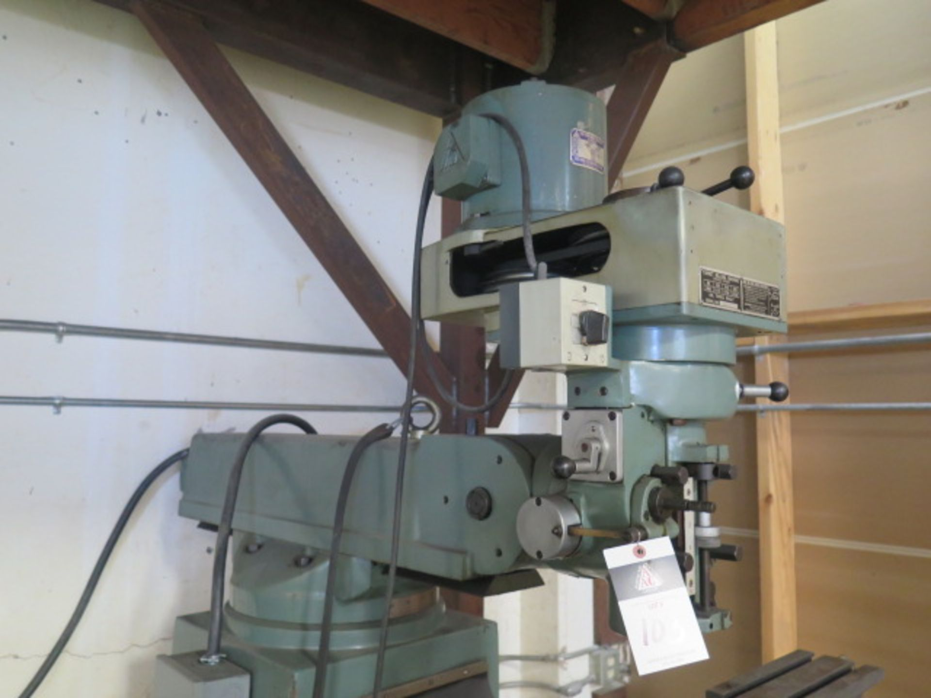 """Import Vertical Mill w/ 3Hp Motor, 80-2720 RPM, 8-Speeds, R8 Spindle, 10"""" x 48"""" Table (SOLD AS- - Image 4 of 9"""