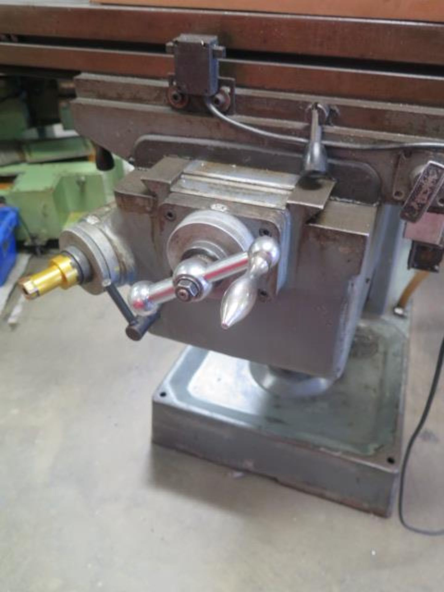 """Lagun FT-1 Vertical Mill w/ Mitutoyo DRO, 55-2940 RPM, 8-Speeds, Power Feed, 9"""" x 42"""" Table (SOLD - Image 12 of 14"""