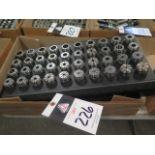 ER32 Flex Collets (40) w/ Rack (SOLD AS-IS - NO WARRANTY)