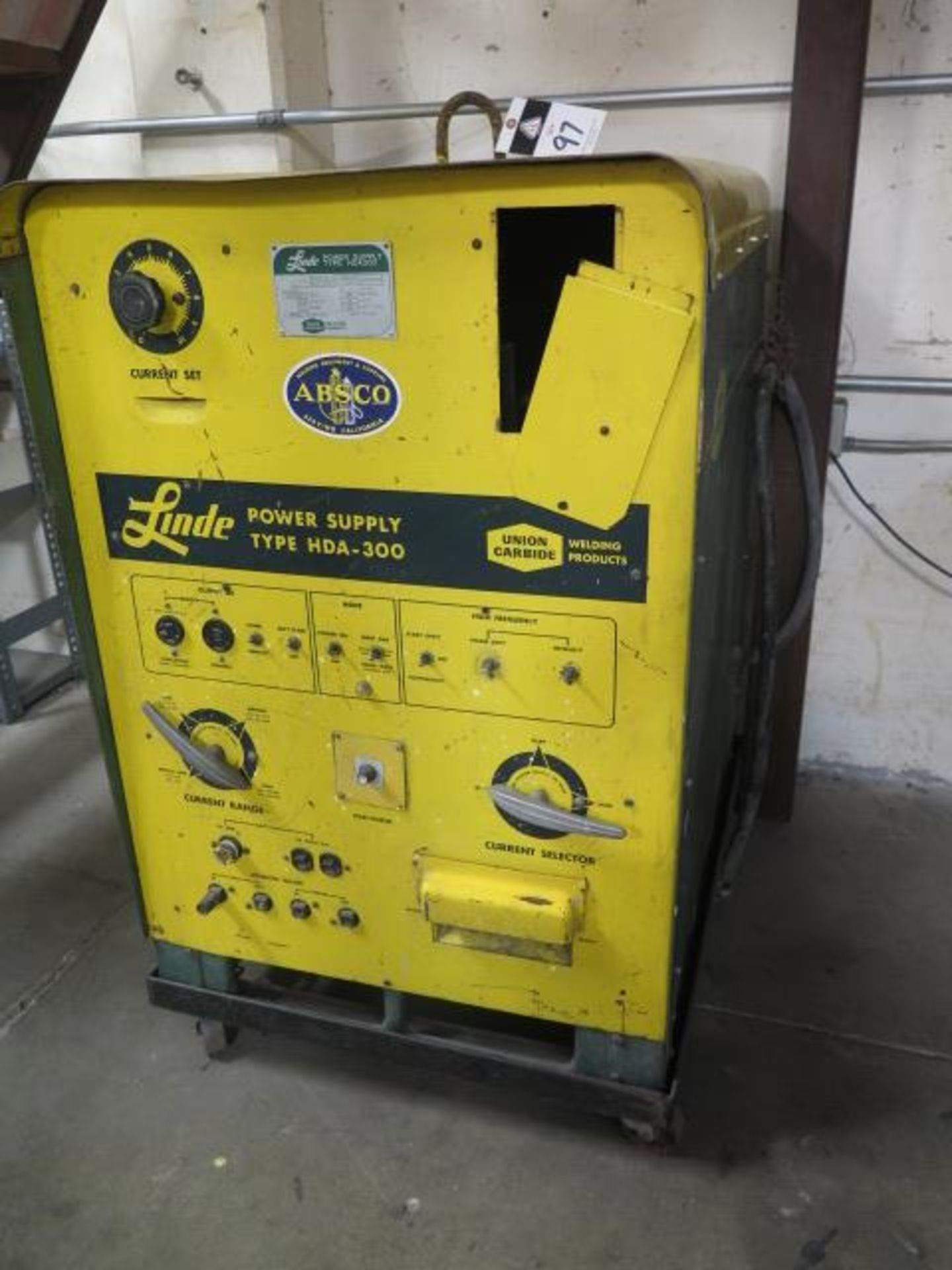 Linde HAD-300 AC/DC Arc Welding Power Source s/n C-3660800 (SOLD AS-IS - NO WARRANTY)