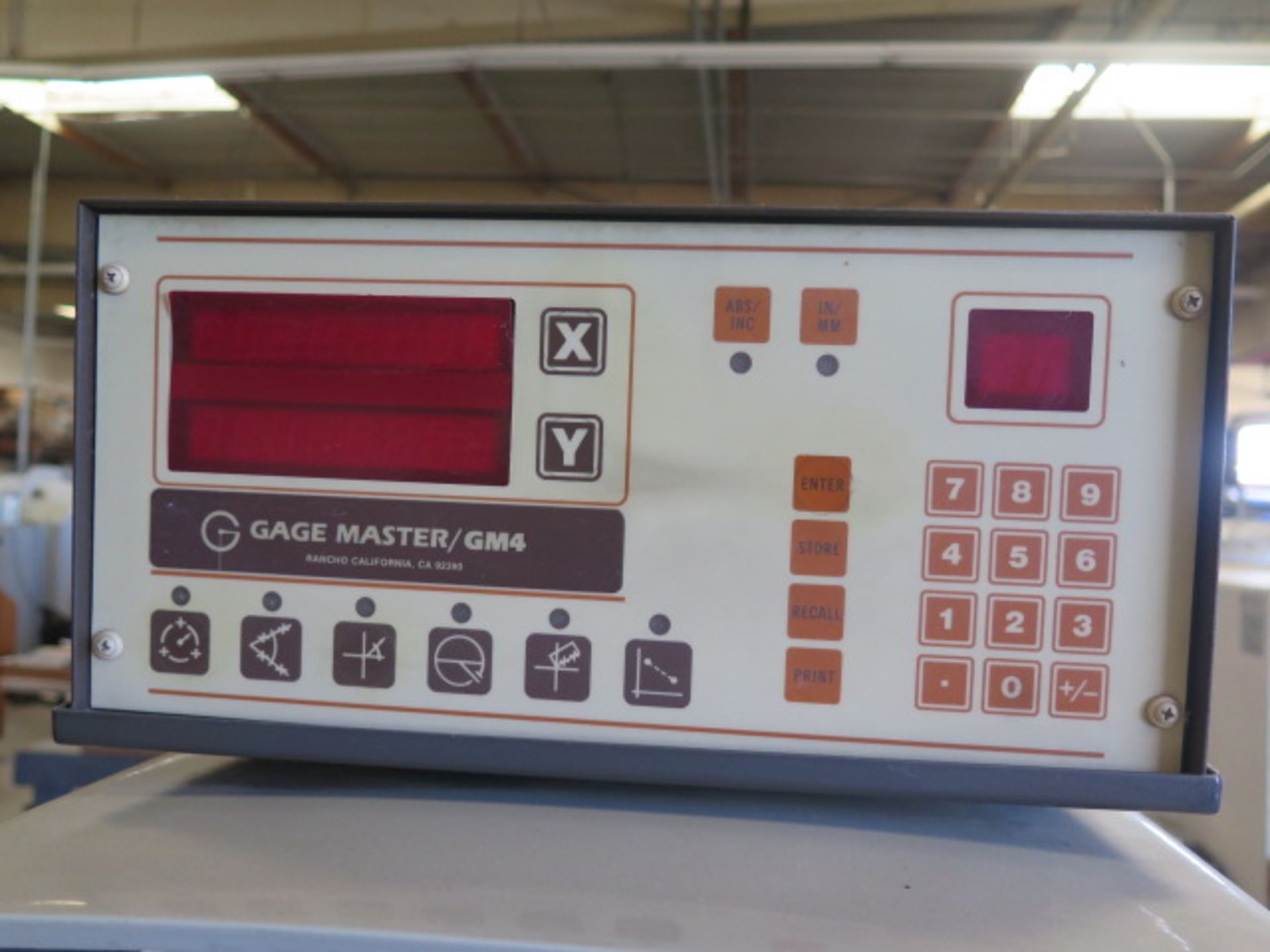 """Gage Master Series 20 13"""" Optical Comparator w/ Gage Master GM4 DRO, Dig Angular Readout, SOLD AS IS - Image 5 of 10"""