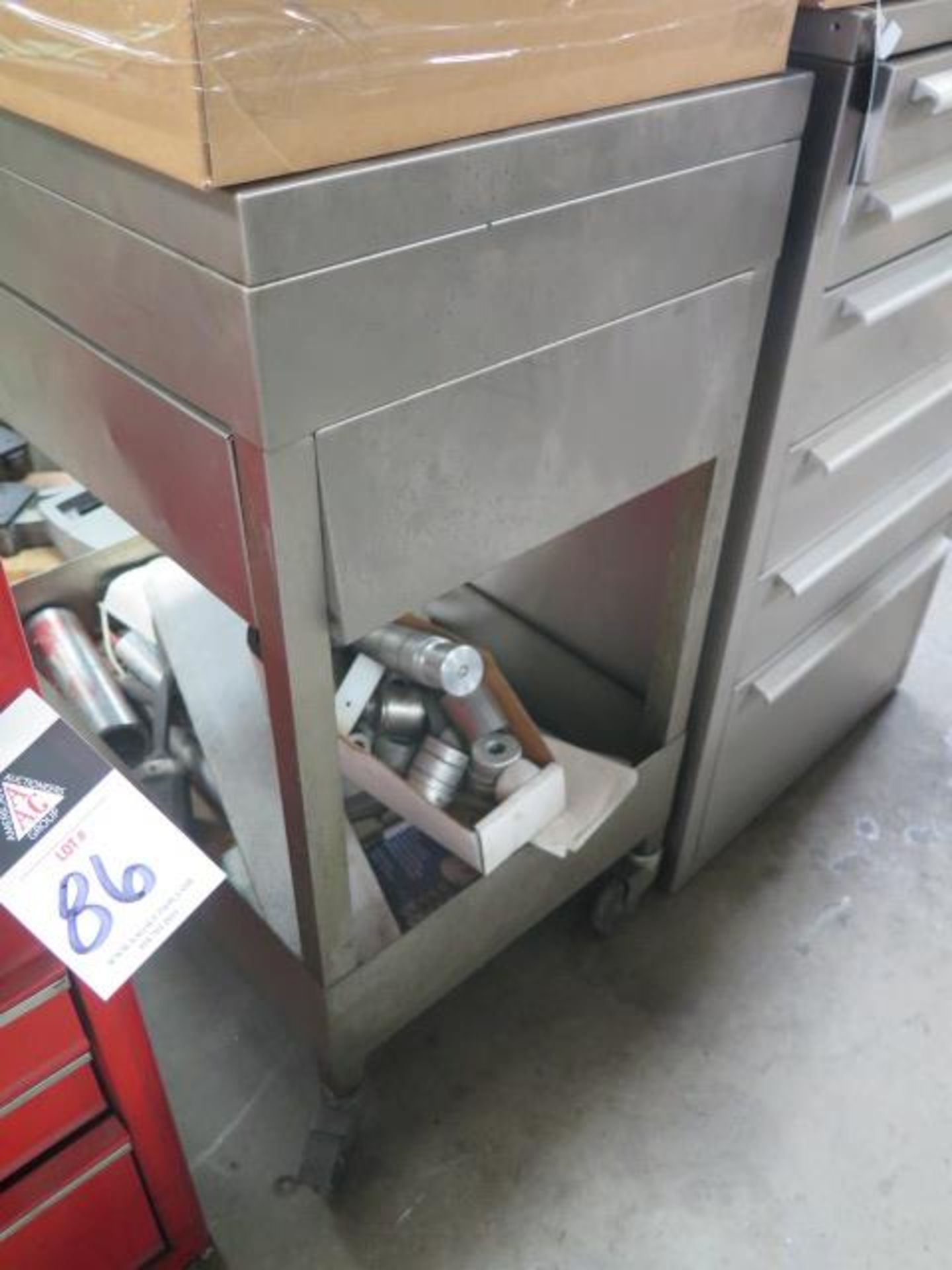 6-Drawer Tooling Cabinet w/ Chuck Jaws (SOLD AS-IS - NO WARRANTY) - Image 9 of 9