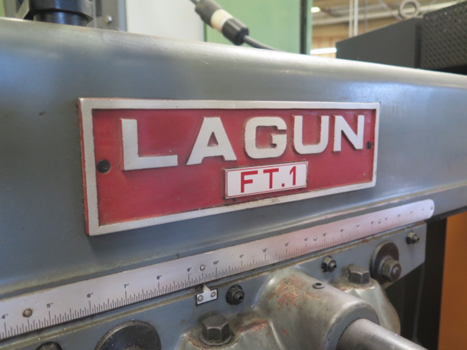 """Lagun FT-1 Vertical Mill w/ Mitutoyo DRO, 55-2940 RPM, 8-Speeds, Power Feed, 9"""" x 42"""" Table (SOLD - Image 6 of 14"""