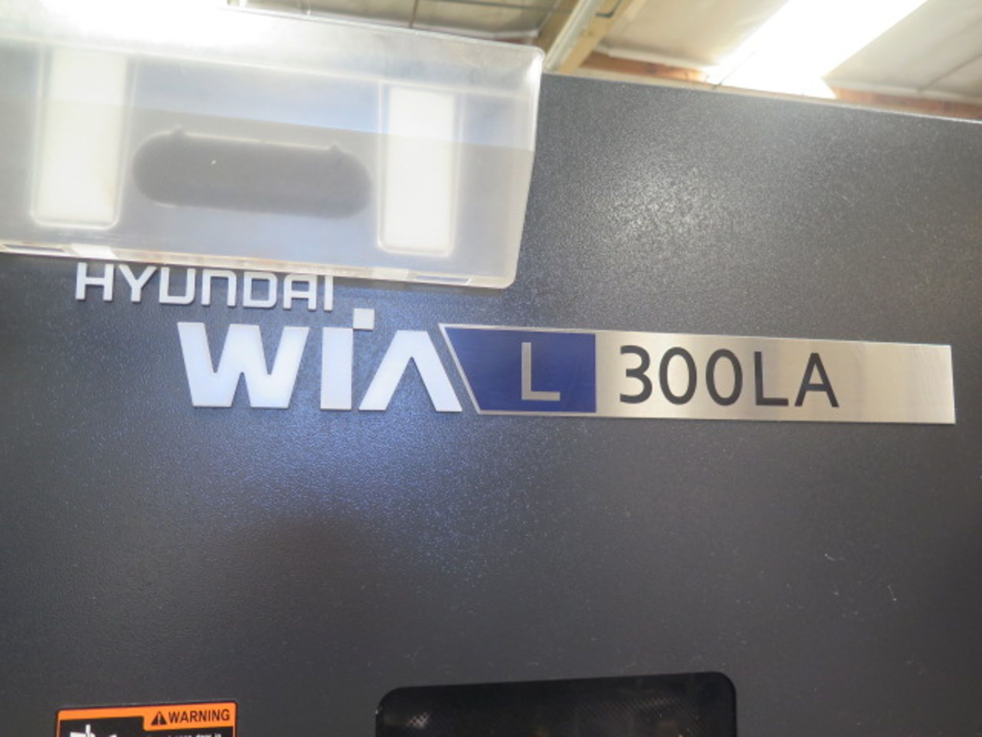 2016 Hyundai WIA L300LA CNC Turning Center s/n G3726-0083 w/ Fanuc i-Series Controls, SOLD AS IS - Image 3 of 20