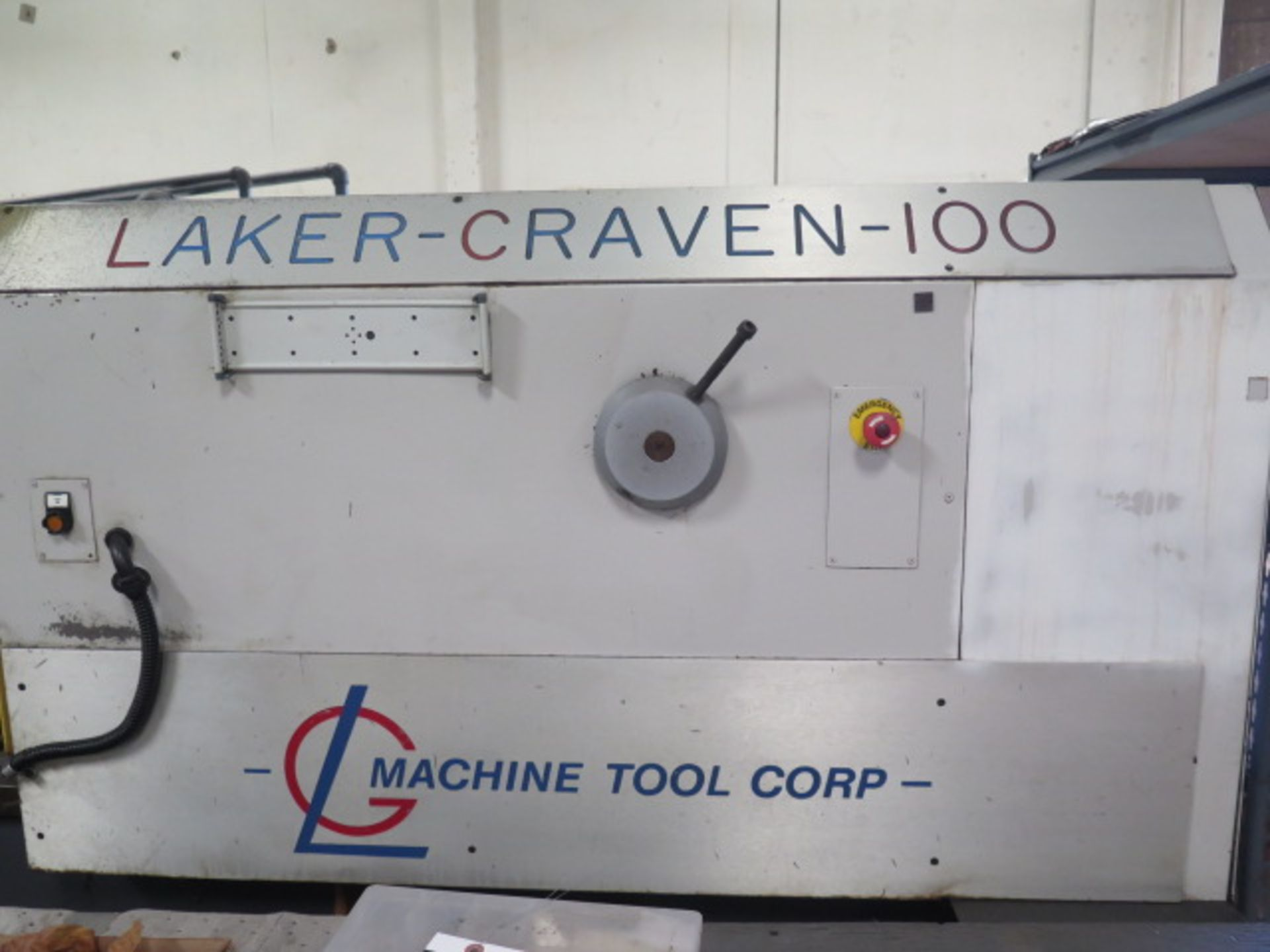 Laker-Craven-100 CNC Deep Hole Drilling Machine s/n 1241 w/ Fanuc Power MATE Controls, SOLD AS IS - Image 8 of 41