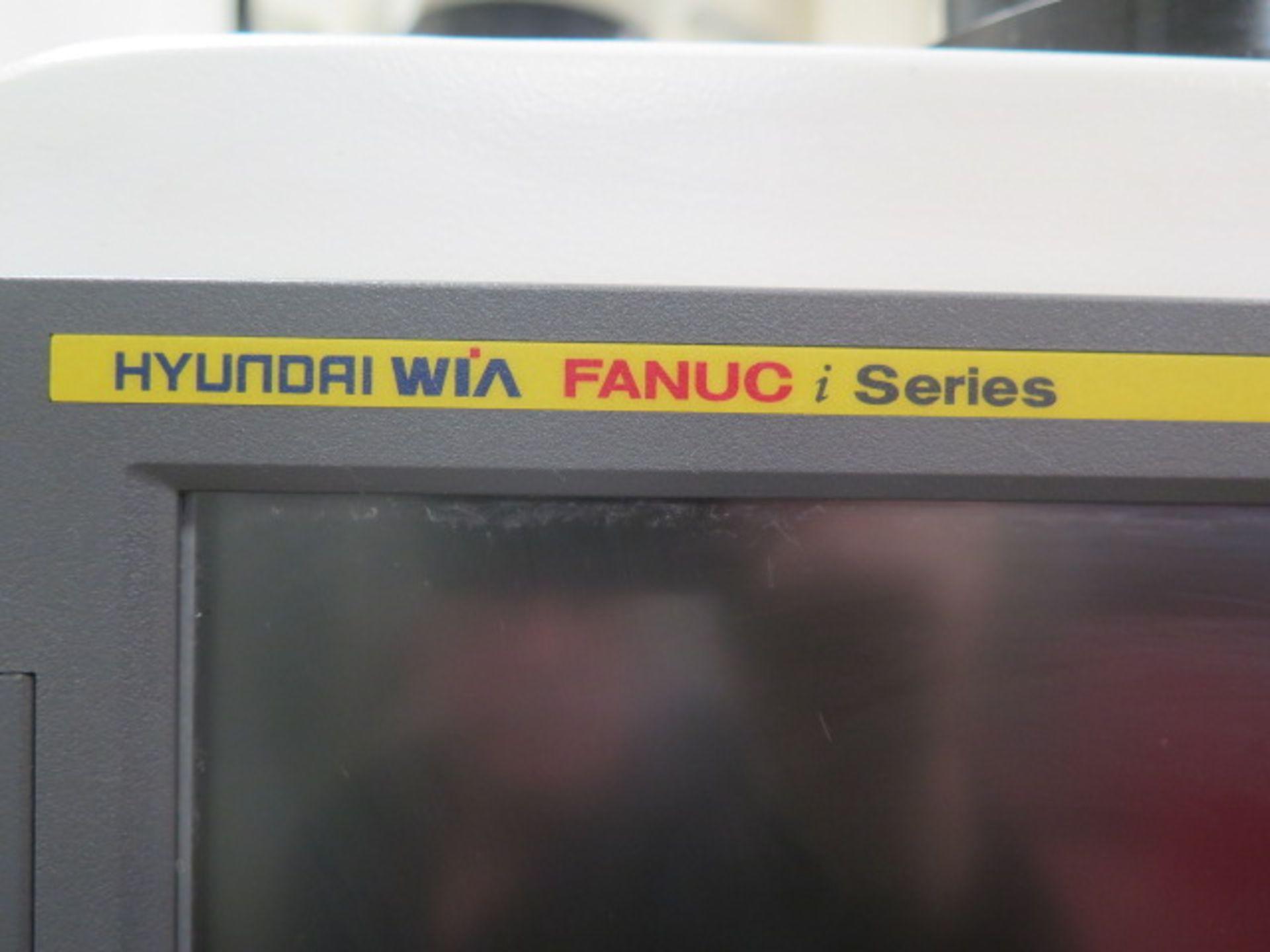 2016 Hyundai WIA F500 4-Axis CNC VMC s/n G3684-3457 w/ Hyundai WIA Fanuc i- Series, SOLD AS IS - Image 7 of 22