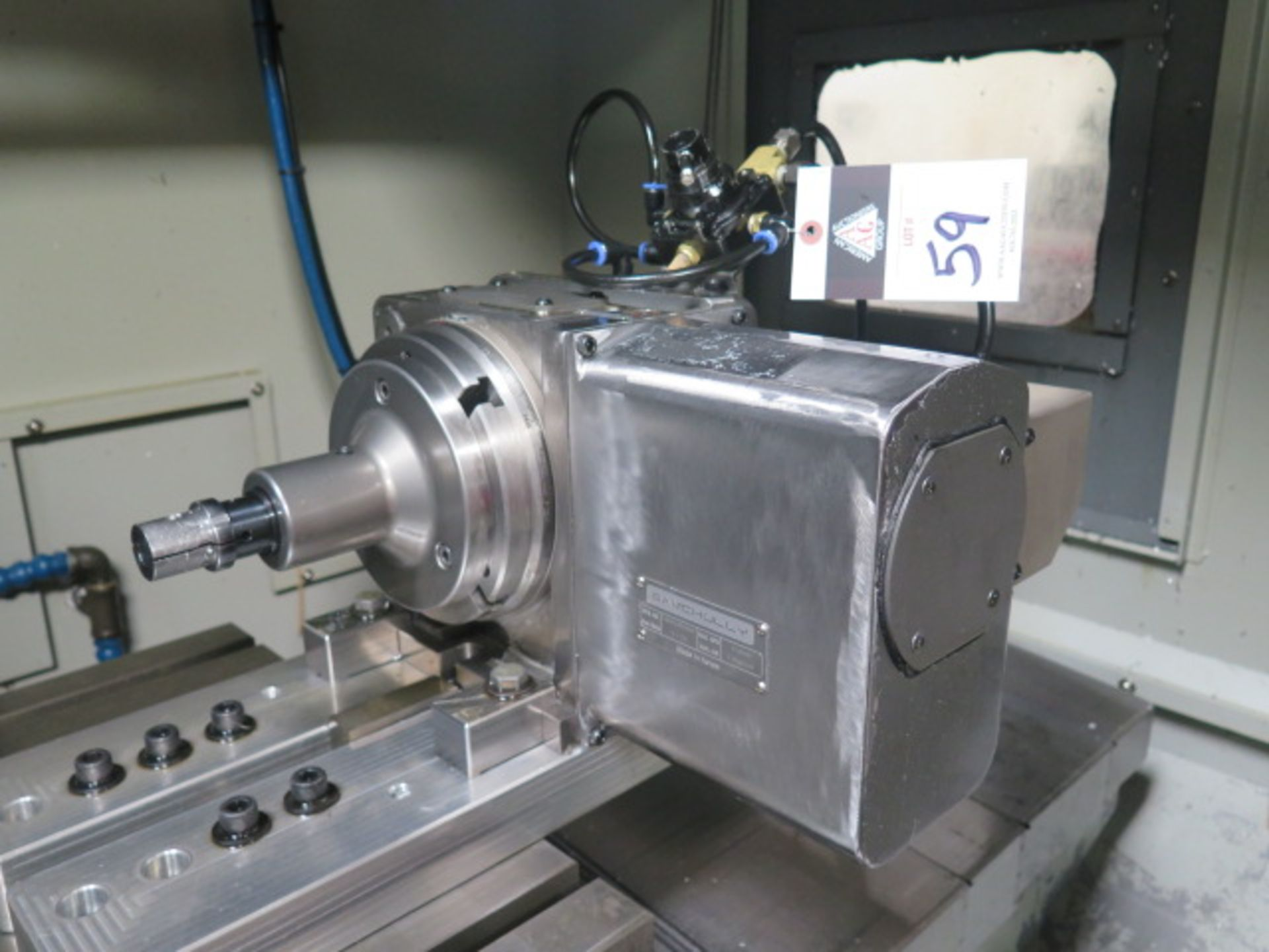 """Samchully 4th Axis 7"""" Rotary Head w/ 5C Pneumatic Collet Closer (SOLD AS-IS - NO WARRANTY)"""