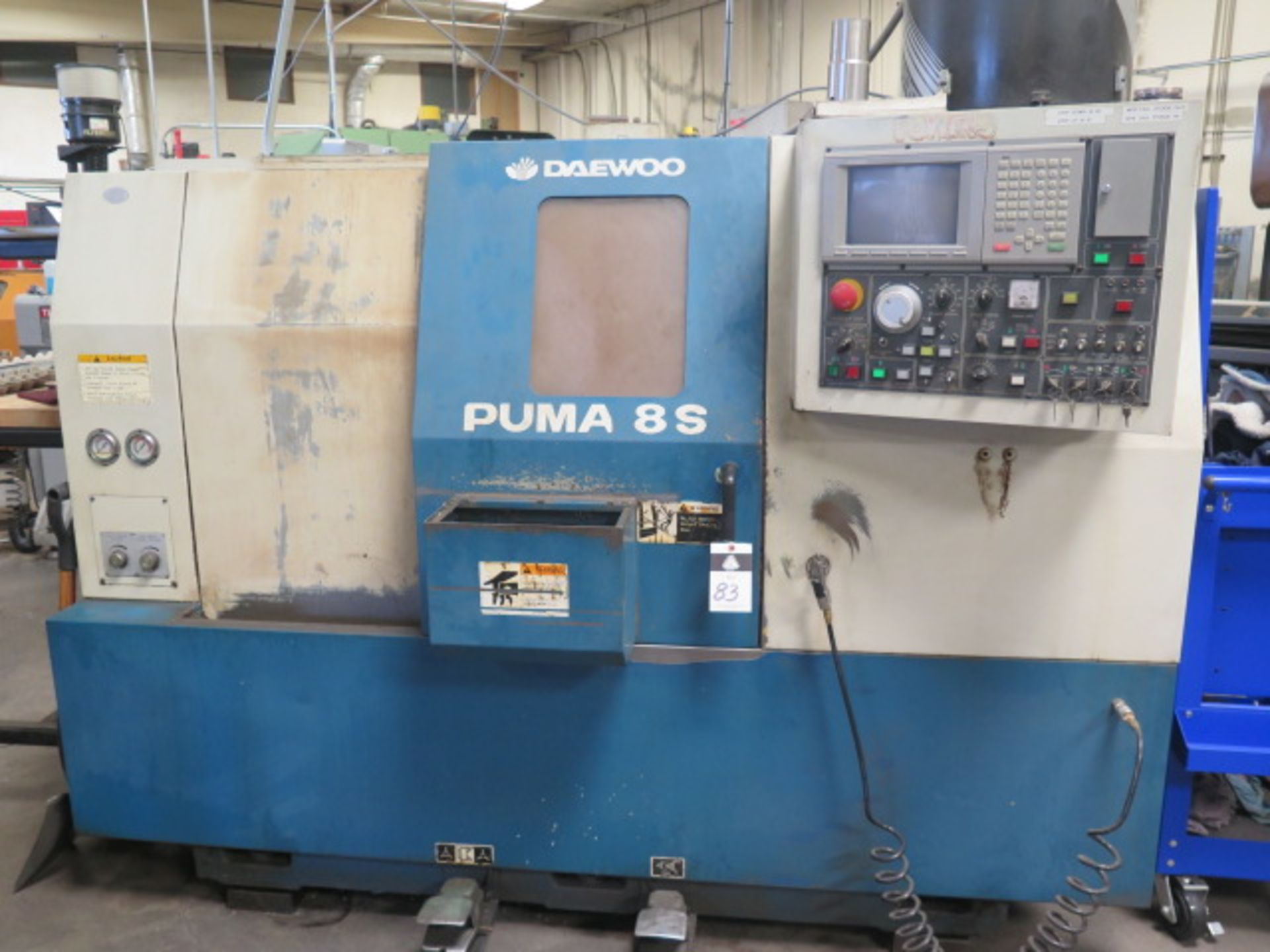 1996 Daewoo PUMA 8S CNC Turning Center s/n PM8S0500 w/ Mits Controls, Tool Presetter, SOLD AS IS
