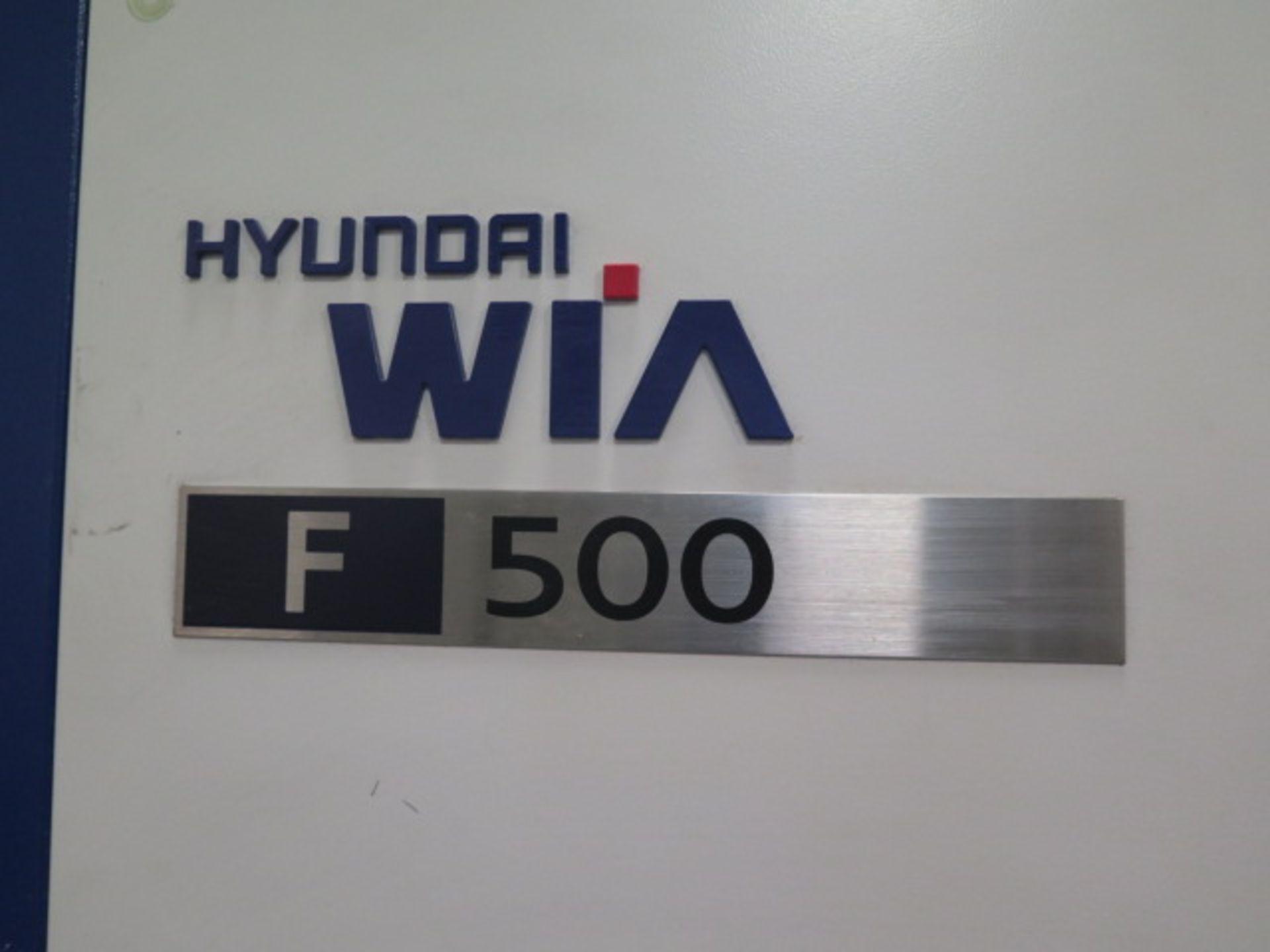 2016 Hyundai WIA F500 4-Axis CNC VMC s/n G3684-3457 w/ Hyundai WIA Fanuc i- Series, SOLD AS IS - Image 4 of 22
