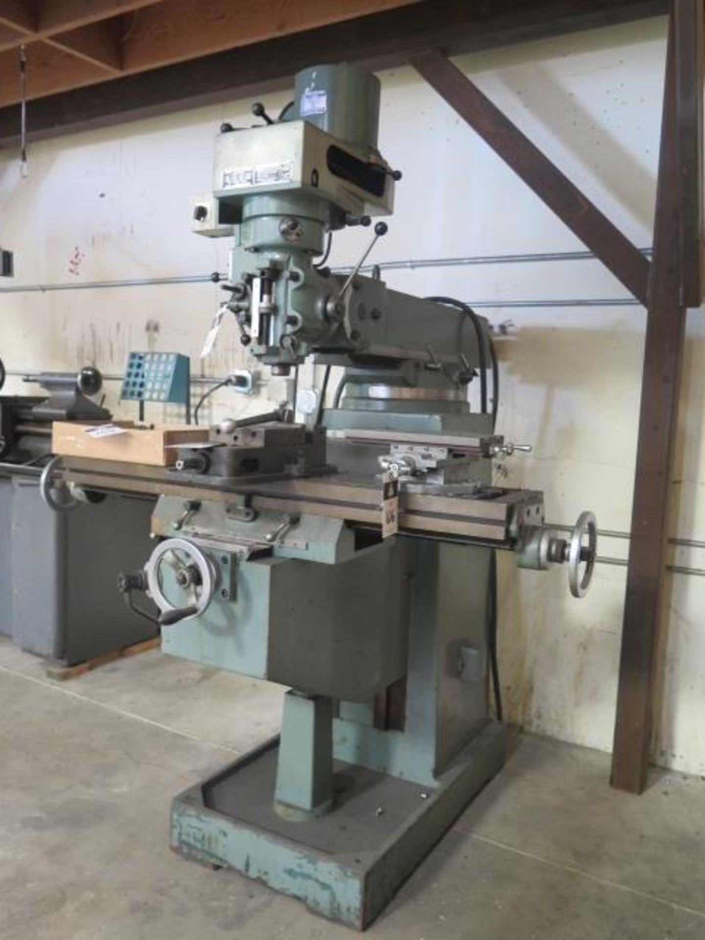 """Import Vertical Mill w/ 3Hp Motor, 80-2720 RPM, 8-Speeds, R8 Spindle, 10"""" x 48"""" Table (SOLD AS- - Image 2 of 9"""