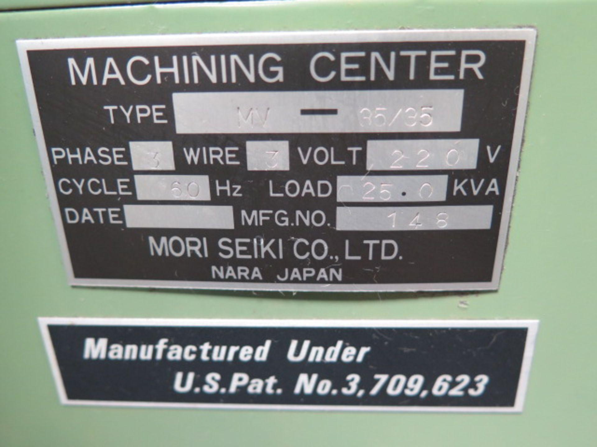 Mori Seiki MV-35/35 CNC VMC s/n 148 w/ Fanuc Controls, 20-Station ATC, BT-35, SOLD AS IS - Image 14 of 14