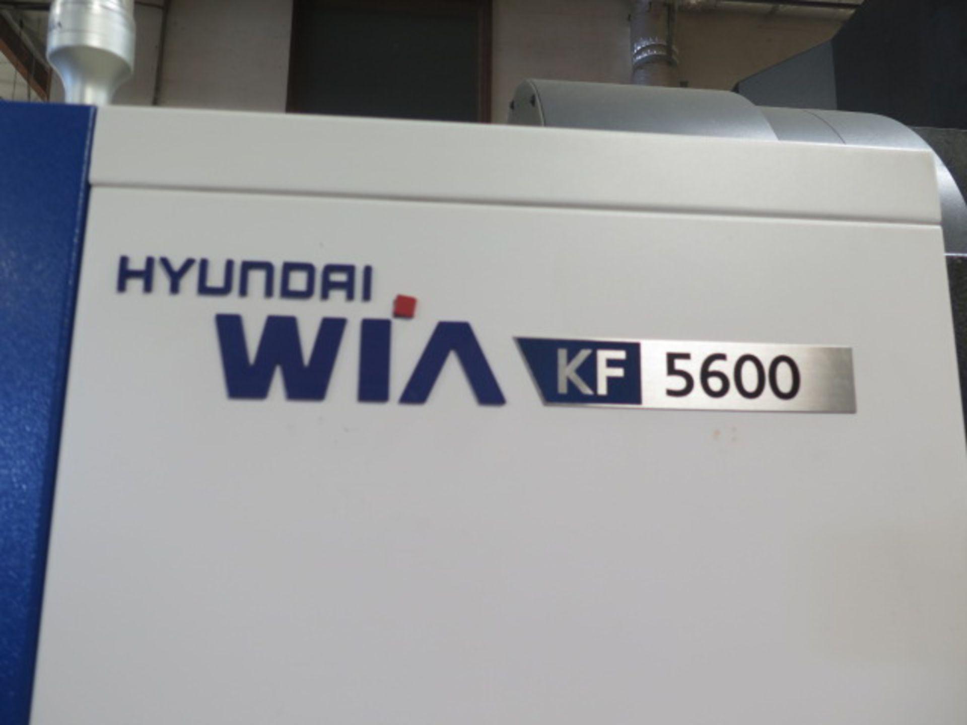 2017 Hyundai WIA KF5600 CNC VMC s/n G2689-0086 w/ Hyundai WIA Fanuc i-Series, SOLD AS IS - Image 4 of 22