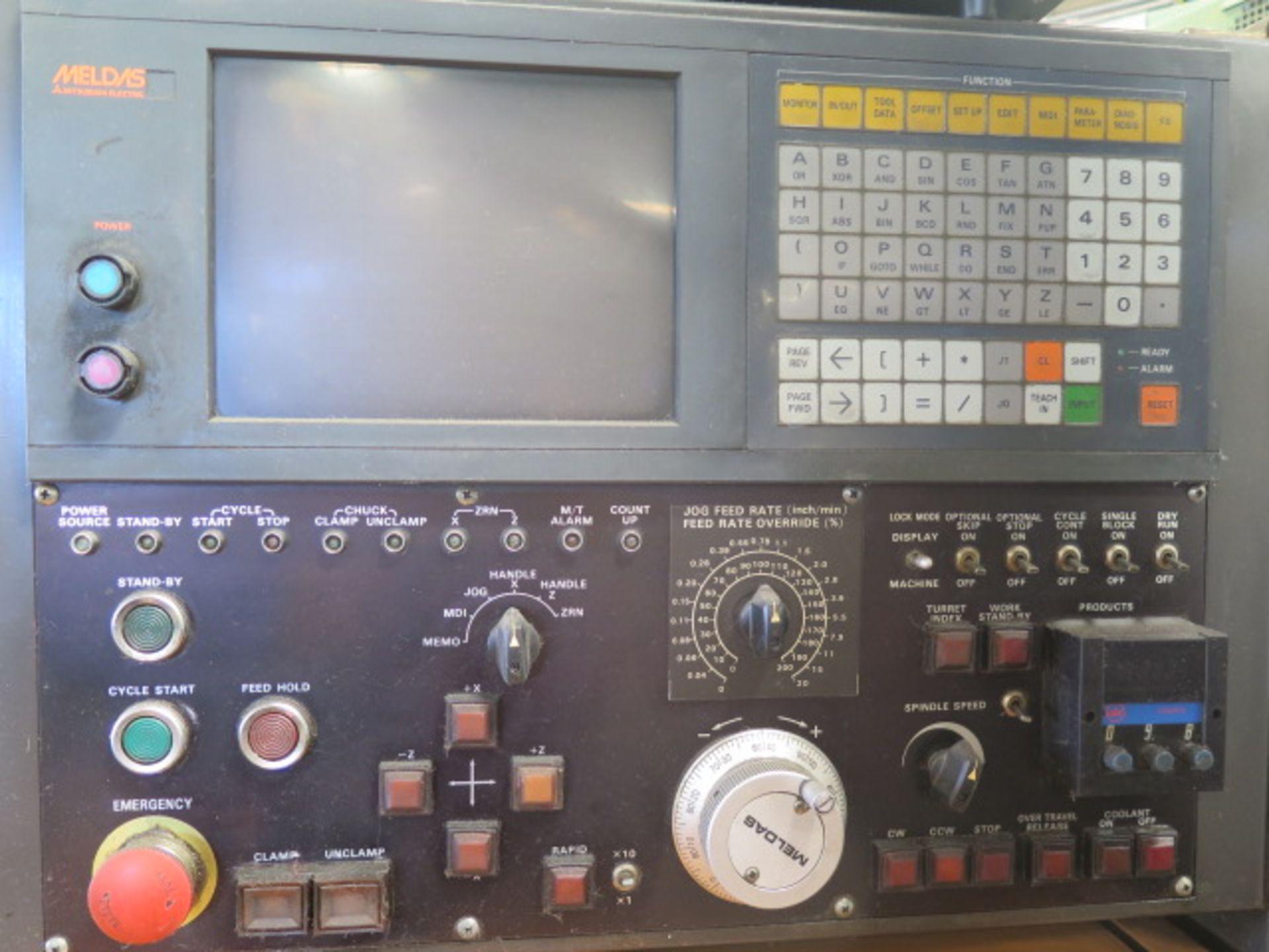Tsugami NM3 CNC Turning Center s/n 6029 w/ Mitsubishi Meldas Controls, 8-Station Turret, SOLD AS IS - Image 6 of 16